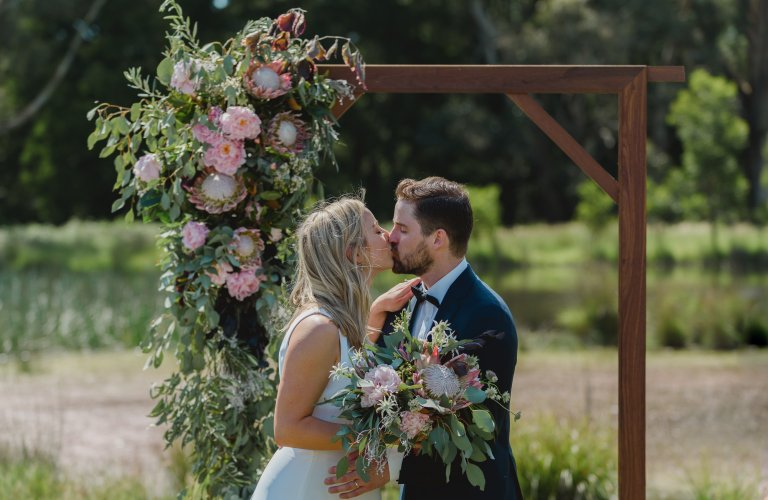 Sophie & Daniel's rustic country wedding in Trentham  by Wild Romantic Photography Melbourne
