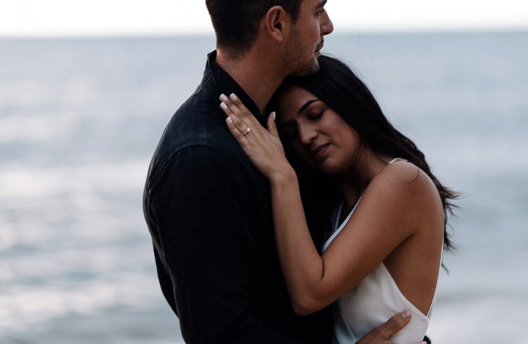 Ece & Baris's sensual engagement shoot at Black Rock