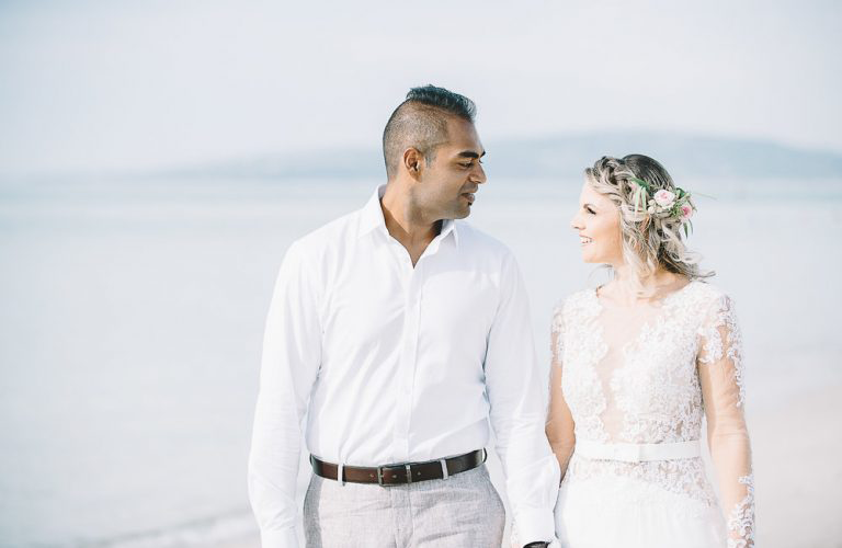 Dawn & Yash's dreamy DIY beach wedding at Alatonero, Mornington