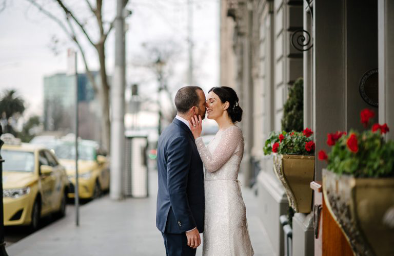 Kate & Grant's modern registry wedding at the Victorian Registry